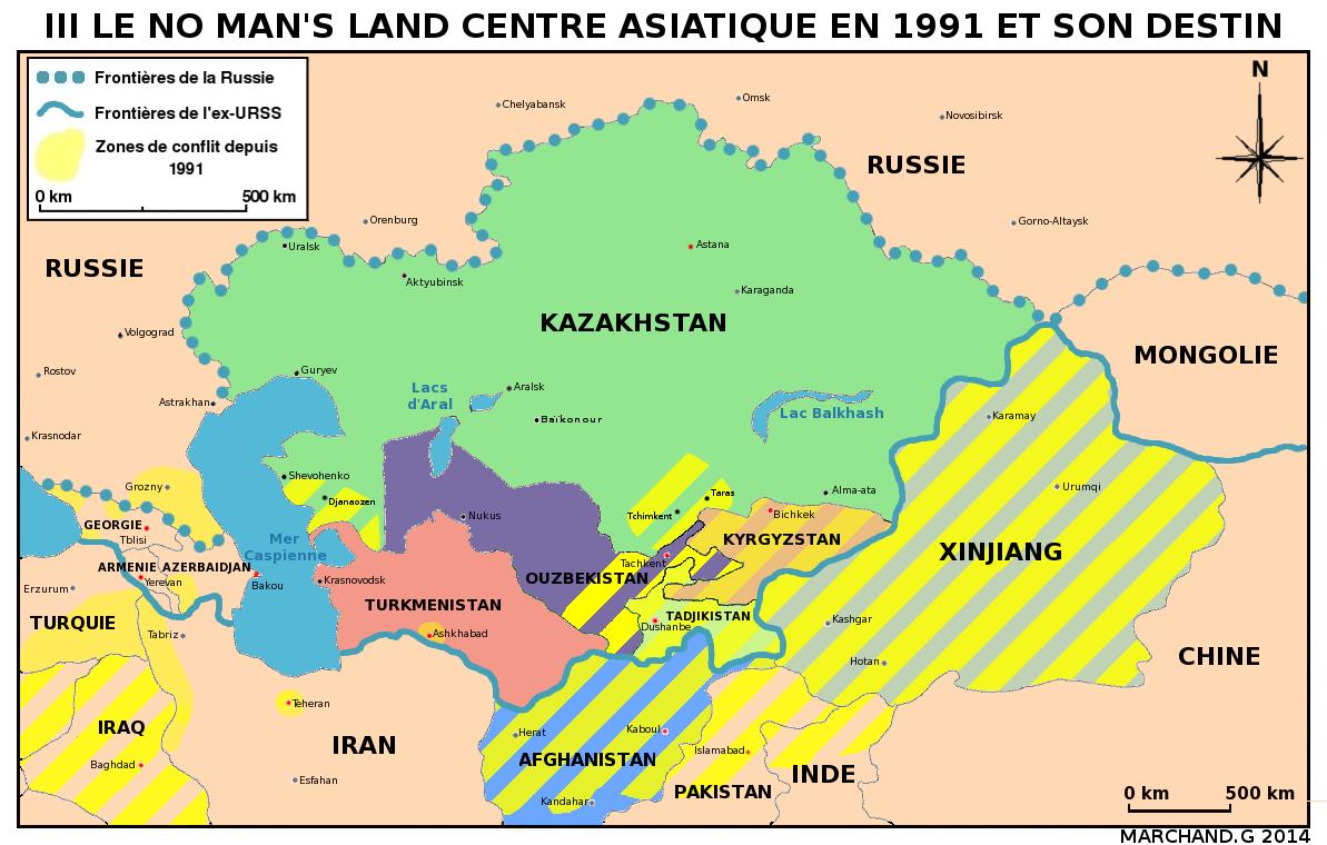 Fond Carte Asie Centrale.Entre Chine Russie Et Islam Ou Va L Asie Centrale R Cagnat