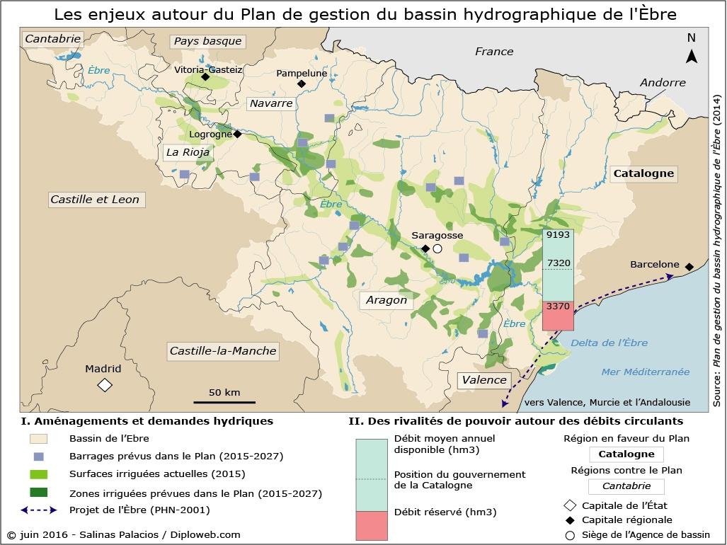 Carte De Lespagne Barcelone.La Question De L Eau En Espagne Un Enjeu Geopolitique