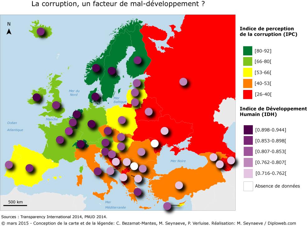 carte europe zone sud