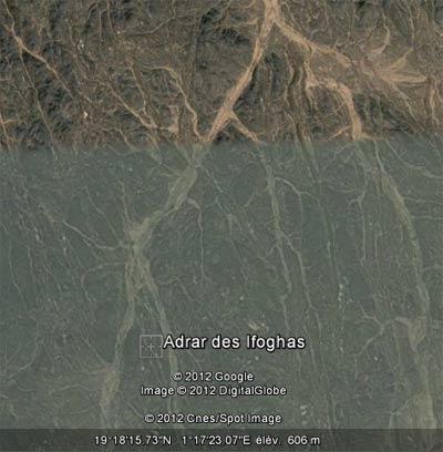 Environs de l'Adrar des Ifoghas, au Mali