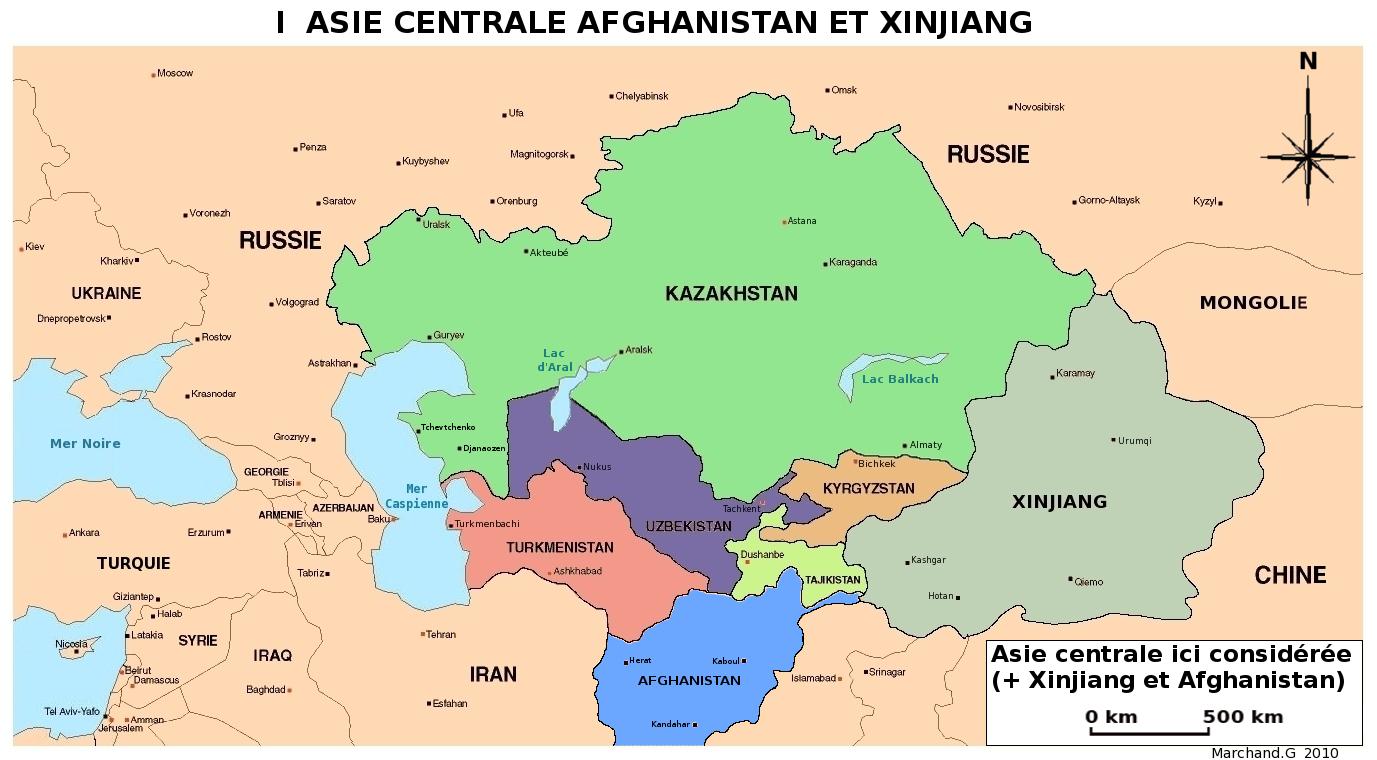 Carte Asie Politique Pays.Entre Chine Russie Et Islam Ou Va L Asie Centrale R Cagnat