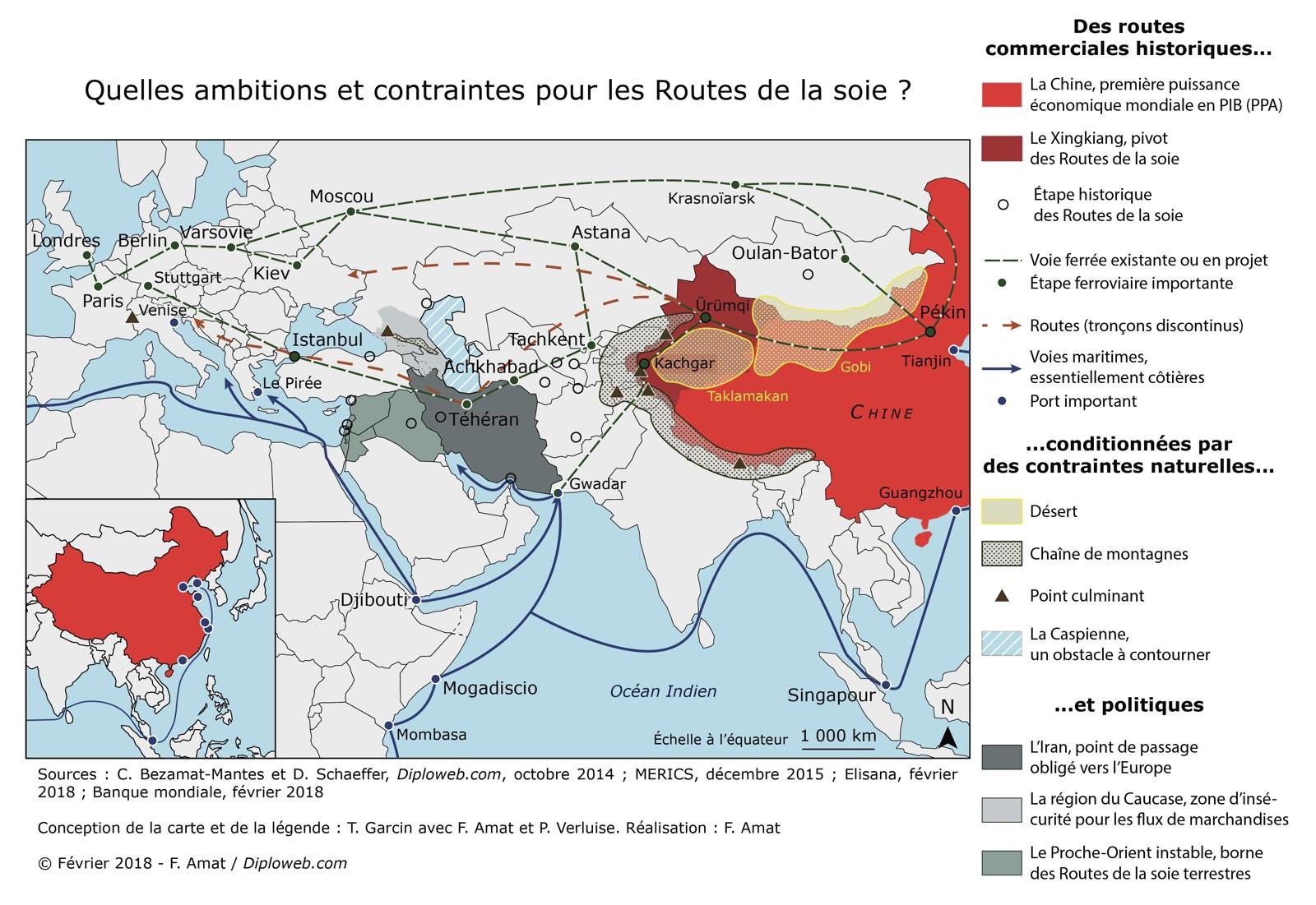 Carte Chine Collier De Perles.Chine Et Eurasie Le Chantier Tres Geopolitique Des