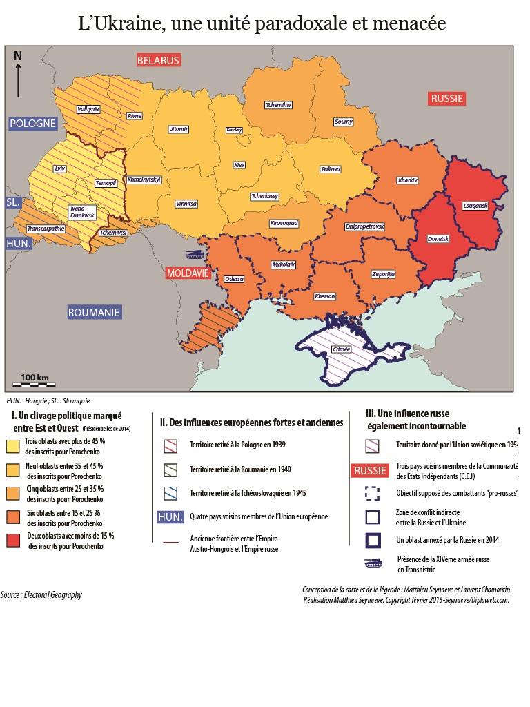 Vue russe de l'ukraine