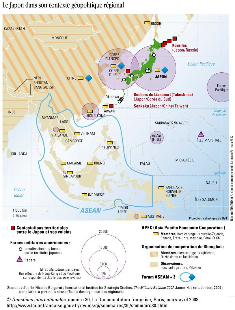 Carte Chine Japon.Chapitre 2 Chine Japon Concurrences Regionales Ambitions