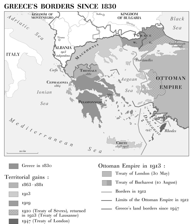 GrecoTurkish Dispute Over The Aegean Sea A Possible Solution - Greece in the treaty of sevres