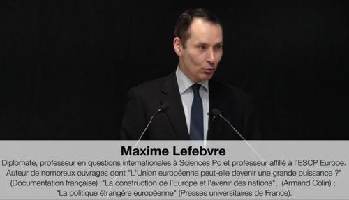 Vidéo. M. Lefebvre Géopolitique des relations franco-allemandes de 1945 à 2019