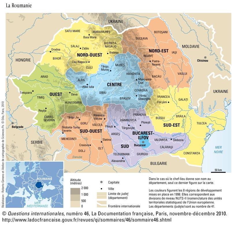 Carte De La Roumanie En Europe