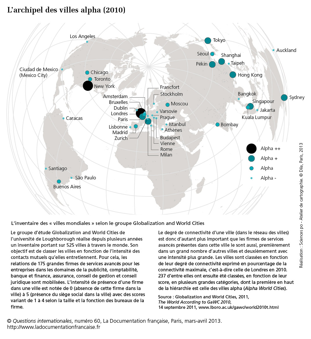 Carte Villes Mondiales Globales