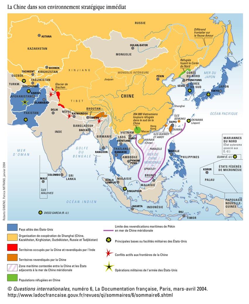 Carte Geographique Chine Sud.Chapitre 2 Chine Japon Concurrences Regionales Ambitions