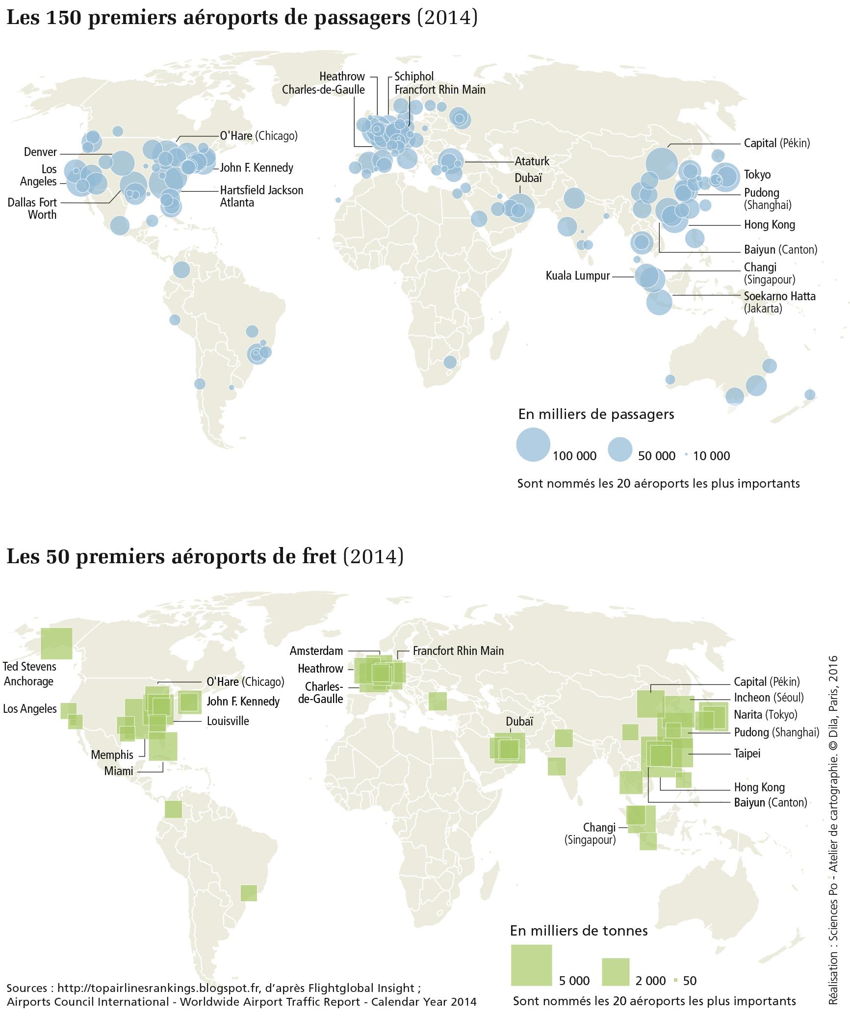 Carte Amerique Du Sud Aeroport.Carte Des 150 Premiers Aeroports De Passagers Dans Le Monde