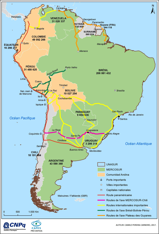 carte amerique du sud geographie