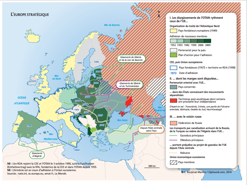 carte europe geopolitique