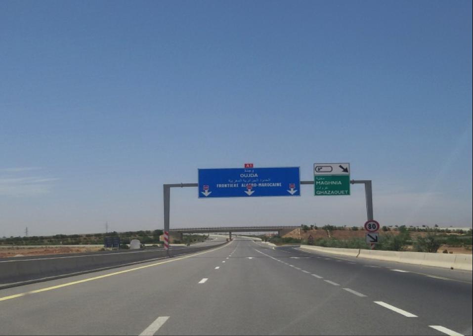 Carte Algerie Autoroute Est Ouest.Geopolitique De La Frontiere Algero Marocaine