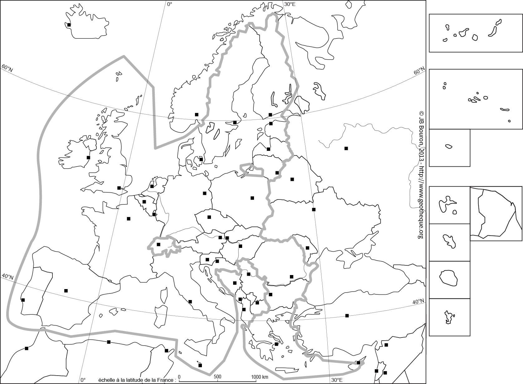 carte europe elargie vierge