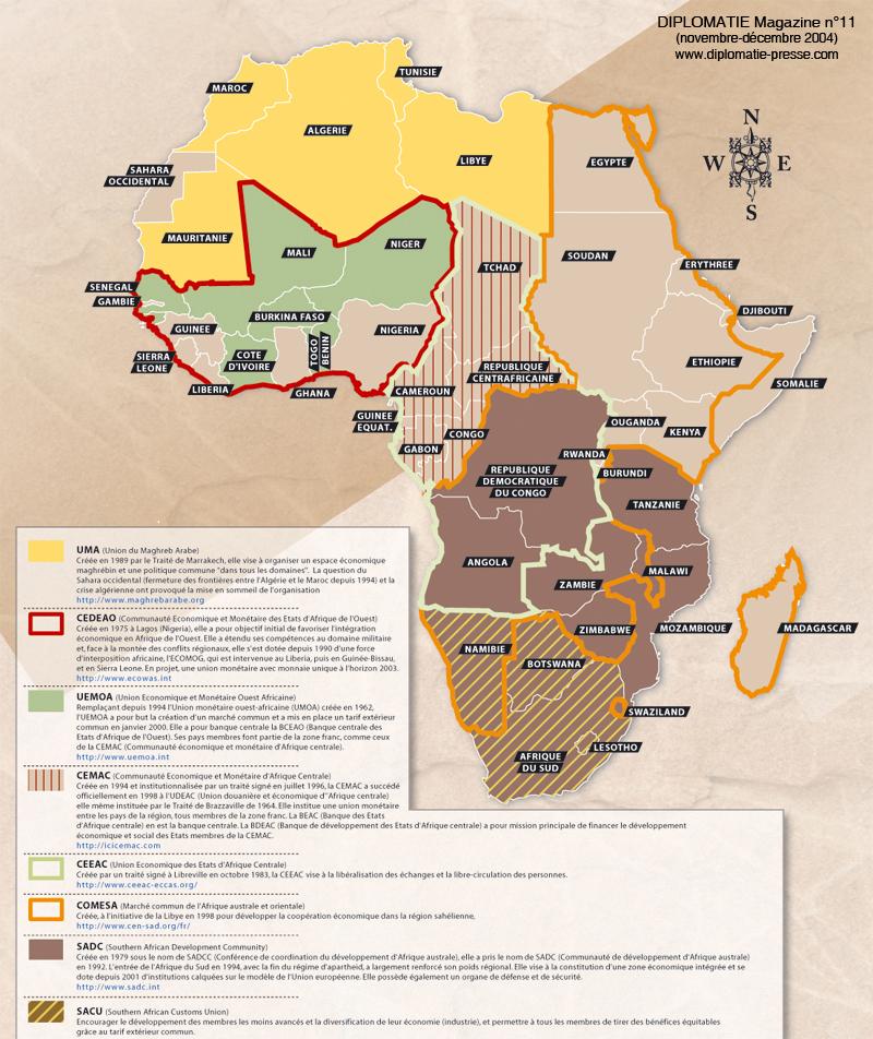 Carte Union Africaine.Diploweb Com Geopolitique Carte Des Organisations