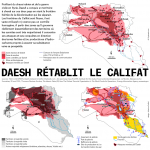 3 cartes. Daesh rétablit le califat