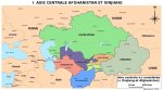 Une carte de l'Asie centrale et du Xinjiang (Chine)